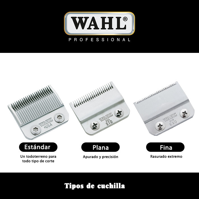 Tipos de cuchillas WAHL - MOSER - ermila - Wahl Spain f3d8af36c52c